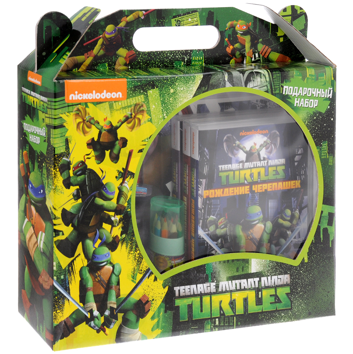 Teenage Mutant Ninja Turtles: Подарочный набор (3 DVD + сувениры) 2016 new bela 10261 tmnt teenage mutant ninja turtles karai bike escape building set building blocks bricks compatible 79118