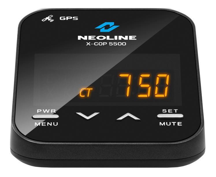 Neoline X-COP 5500 радар-детекторX-COP 5500Neoline Х-СОР 5500 продолжает известную линейку радар-детекторов Neoline c GPS. В устройство интегрирован GPS-модуль, отвечающий за обнаружение точек координат полицейских радаров, которые были ранее установлены в базу GPS. Также как и свои предшественники, Х-СОР 5500 имеет встроенную базу радаров РФ и Европы. Для использования устройства в странах ЕС, где запрещено использование радиомодуля, необходимо отключить все диапазоны частот, при этом только GPS-модуль останется активным.Neoline X-COP имеет встроенный дополнительный модуль обнаружения полицейского радара Стрелка-СТ и Стрелка-М (24.150 Ггц) и уверенно обнаруживает «неуловимый» радар на расстоянии до 1 км. Данные типы радаров имеют видеомодуль для фиксации нарушения проезда по полосе общественного транспорта и радиомодуль фиксации скорости автомобиля. X-COP 5500 легко справляется с ними за 600-800 метров. Все реже сотрудники ДПС используют мобильные радары для детектирования скорости автомобиля. Но все же, Х-СОР 5500 уверенно распознает данные устройства на расстоянии 800-1000 метров в зависимости от расположения ландшафта. Neoline Х-СОР 5500 настроен на детектирование слабых сигналов, получаемых от маломощных полицейских радаров. Антенна радар-детектора более чувствительна к поступающим сигналам, что также положительно сказывается на обнаружении радаров на большом расстоянии. Neoline X-COP 5500 настроен на обнаружение самых современных камер системы АВТОДОРИЯ, которые с помощью видеоблока и технологии оптического распознавания госномера контролируют среднюю скорость автомобиля на участке дороги от 500 м. до 10 км. Neoline X-COP 5500 предупредит водителя о таких камерах и проинформирует о превышении разрешенной скоростина участке дороги. Помимо традиционных режимов Город и Трасса, в Neoline X-COP 5500 реализован автоматический режим X-COP, который изменяет чувствительность обнаружения радаров в зависимости от скорости автомобиля. Режим X-COP разработан специалистами 