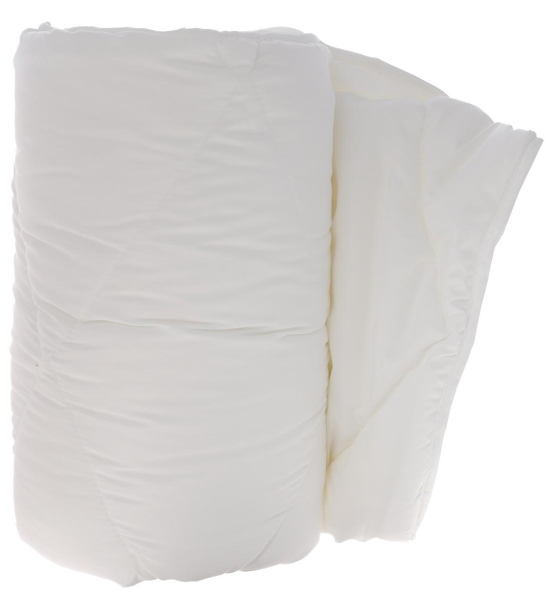 Одеяло Dargez Бомбей, легкое, наполнитель: бамбуковое волокно, цвет: белый, 140 см х 205 см22(23)341_белыйОдеяло Dargez Бомбей подарит комфорт и уют во время сна.Чехол одеяла, выполненный из микрофибры, оформлен фигурной стежкой, которая надежно удерживает наполнитель внутри.Волокно на основе бамбука - инновационный наполнитель, обладающий за счет своей пористой структуры хорошей воздухонепроницаемостью и высокой гигроскопичностью, обеспечивает оптимальный уровень влажности во время сна и создает чувство прохлады в жаркие дни. Антибактериальный эффект наполнителя достигается за счет содержания в нем специального компонента, а также за счет поглощения влаги, что создает сухой микроклимат, препятствующий росту бактерий.Основные свойства волокна:- хорошая терморегуляция,- свободная циркуляция воздуха,- антибактериальные свойства,- повышенная гигроскопичность,- мягкость и легкость,- удобство в эксплуатации и легкость стирки.Рекомендации по уходу:- Стирка при температуре не более 40°С.- Запрещается отбеливать, гладить. - Можно выжимать и сушить в стиральной машине.