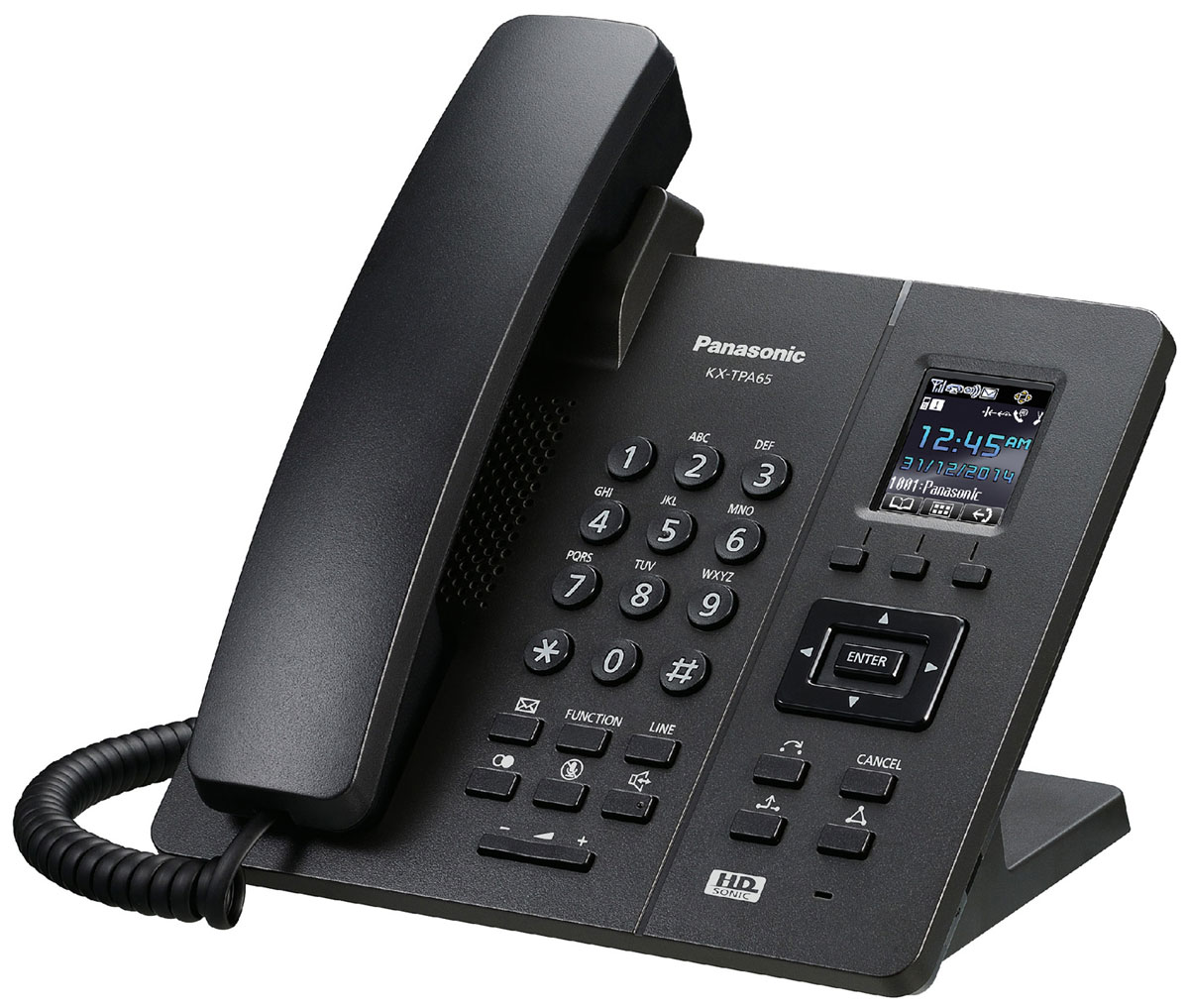 Panasonic KX-TPA65, Black DECT-телефон - Радиотелефоны DECT