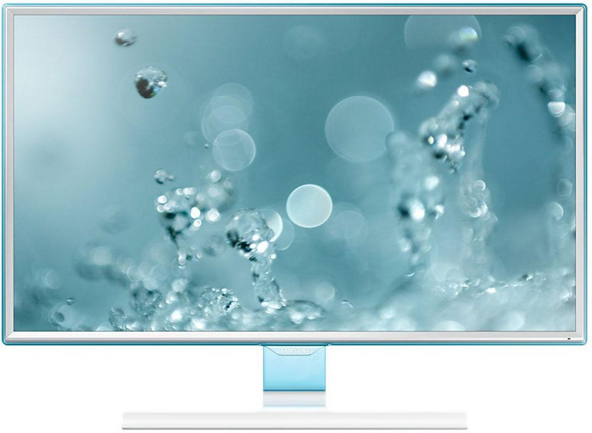 Samsung S27E391H мониторLS27E391HSX/CIВ мониторе Samsung S27E391H обновлен дизайн рамки и подчеркнут полупрозрачным голубым оттенком Touch of Color. Супертонкая рамка с четырех сторон дисплея обеспечивают чистый и современный внешний вид и естественным образом фокусируют взгляд на изображении. Дизайн Touch of Color переходит так же на подставку,что обеспечивает гармоничный и целостный общий дизайн монитора .Используемая матрица обеспечивает широкие углы обзора (178°/178°) по горизонтали и по вертикали для удобства работы, а разрешение Full HD составляет 1920 x 1080, что обеспечивает качественную картинку. Голубое свечение при длительном воздействии отрицательно влияет на зрение. Режим Eye Saver Mode понижает нагрузку на глаза во время работы за монитором путем снижения интенсивности голубого свечения. Технология Flicker Freeобеспечивает защиту глаз от постоянного напряжения, вызванного мерцанием и позволяет дольше работать.Эко-энергосберегающая технология снижает яркость экрана для повышения энергоэффективности. Доступны ручная (25%, 50%) и автоматическая (снижает потребление примерно на 10%) регулировка яркости черных секций экрана. Для уменьшения негативного влияния на окружающую среду в монитора SE390/391 не используется ПВХ.С малым временем отклика вы можете быть уверены, что ваш монитор будет справляться с любыми фильмами, играми, содержащими самые динамичные сцены. Функция Magic Upscale обеспечит автоматическое сглаживание текстур изображения малого разрешения, чтобы вы могли насладиться качественной картинкой.
