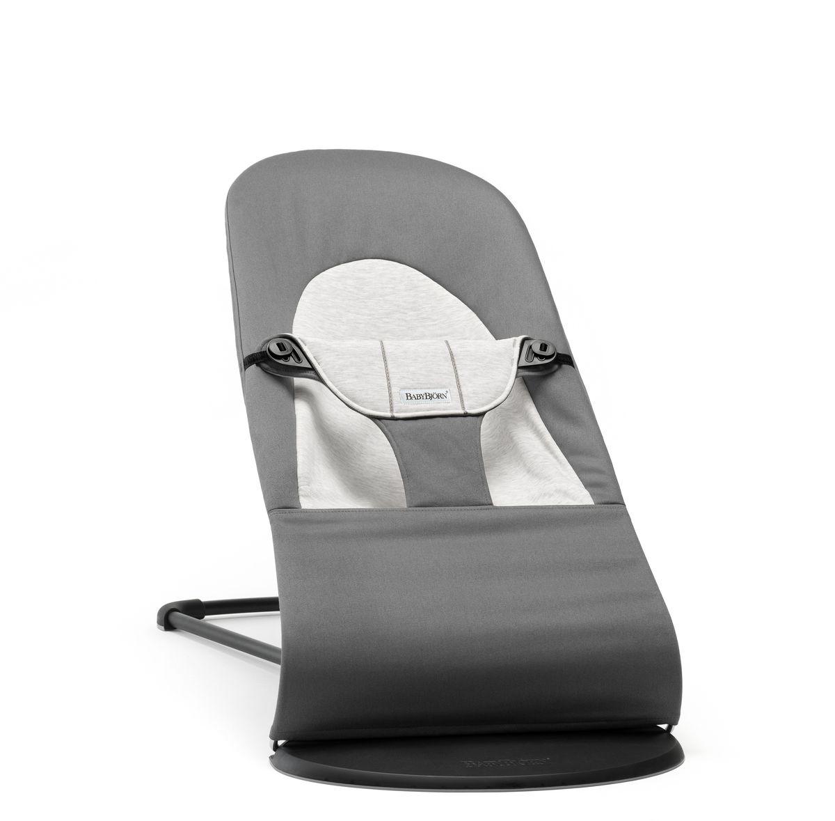 BabyBjorn Кресло-шезлонг Balance Jersey, цвет: темно-серый, серый - Качели и шезлонги