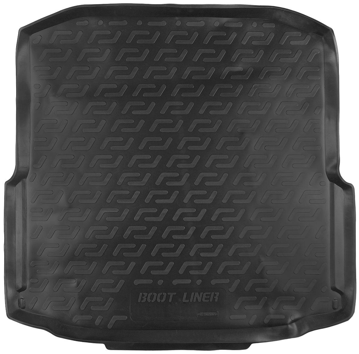 Коврик в багажник L.Locker, для Skoda Octavia III liftback (13-) автомобильный коврик seintex 677 для skoda octavia