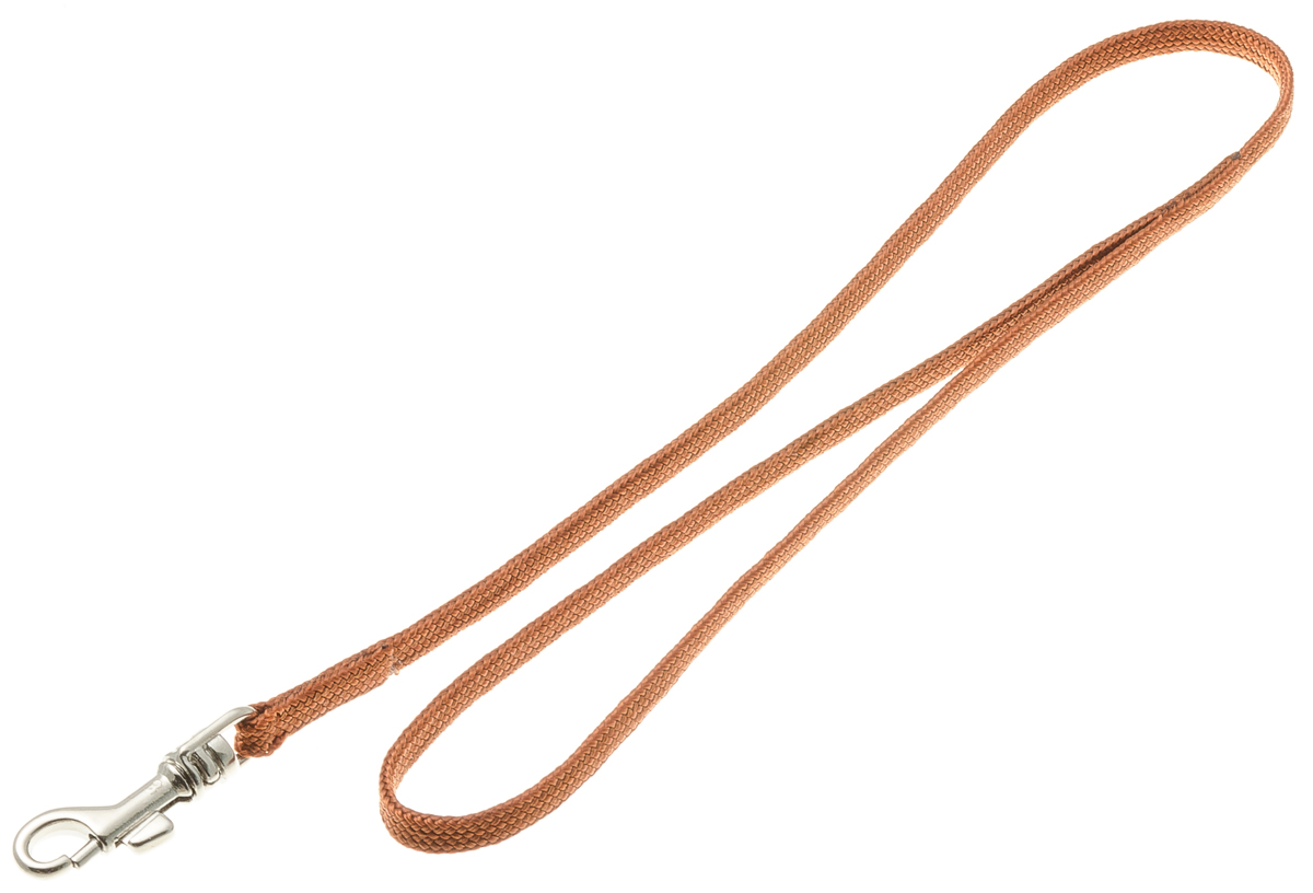 Водилка для собак V.I.Pet, цвет: светло-коричневый, ширина 5 мм, длина 50 см. 72-0872-0810Профессиональная выставочная водилка V.I.Pet изготовлена из нейлона. Легкая, прочная, удобная. Применяется также для повседневного использования. При помощи карабина идеально комбинируется с выставочными цепочками, ошейниками, полуудавками.