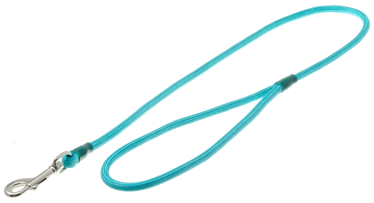 Поводок для собак V.I.Pet, цвет: бирюзовый, диаметр 6 мм, длина 70 см поводок для собак collar soft цвет коричневый диаметр 6 мм длина 1 83 м