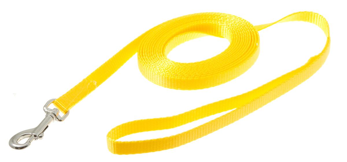 Поводок для животных V.I.Pet, цвет: золотой, ширина 10 мм, длина 3 м. 73-094073-0940Предназначено для кошек, собак мелких пород и других животных. Материал поводка отличается повышенной прочностью, мало подвержен механическому воздействию, поэтому надолго сохранит аккуратный внешний вид и насыщенность цвета. Вращающийся вертлюг карабина предотвращает перекручивание поводка. Материал: стальная фурнитура, 100% нейлон.Цвет: золотой.