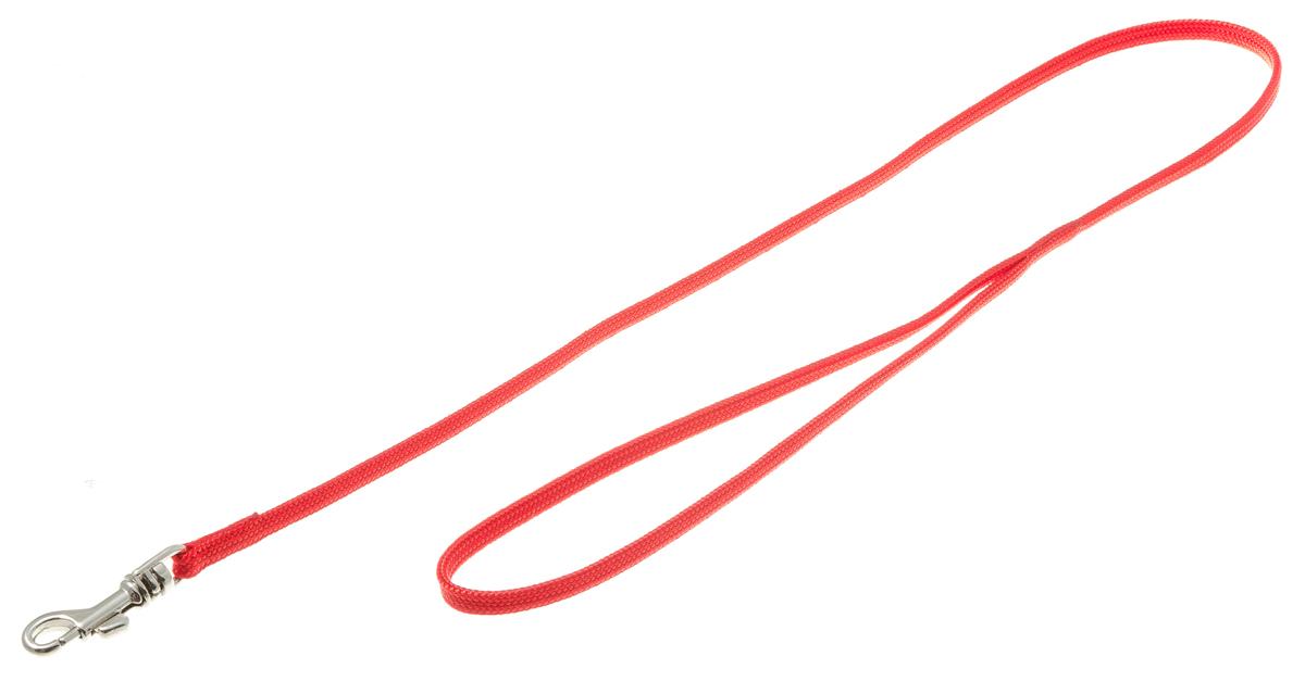 Поводок с карабином (лента-чулок) 5 мм*70 см (красный) 73-241773-2417