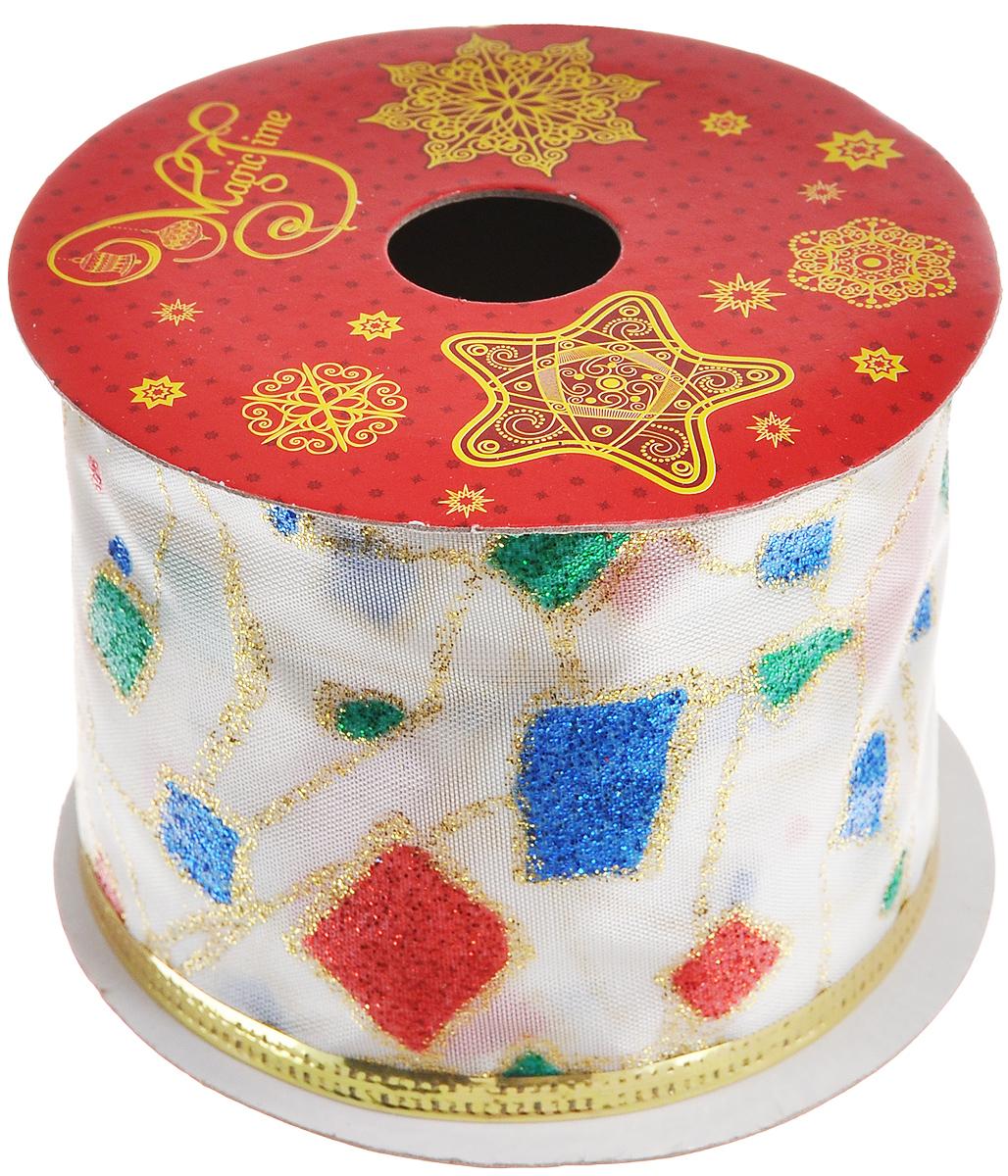 Декоративная лента Феникс-презент Разноцветные квадратики, цвет: белый, зеленый, красный, длина 2,7 м38904Декоративная лента Феникс-презент Разноцветные квадратики выполнена из высококачественного полиэстера. В края ленты вставлена проволока, благодаря чему ее легко фиксировать. Лента предназначена для оформления подарочных коробок, пакетов. Кроме того, декоративная лента с успехом применяется для художественного оформления витрин, праздничного оформления помещений, изготовления искусственных цветов. Декоративная лента украсит интерьер вашего дома к праздникам.Ширина ленты: 6,3 см.