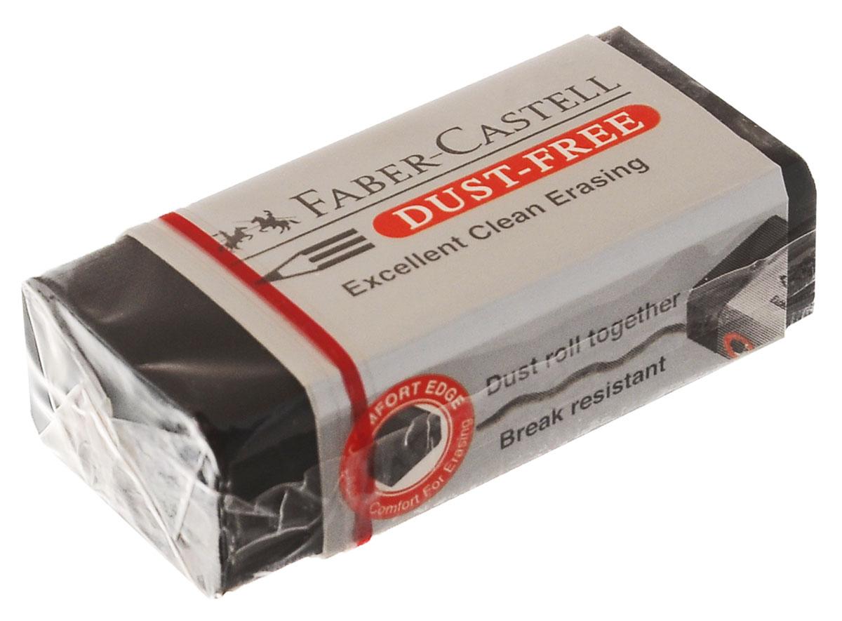 Faber-Castell Ластик DUST FREE263424Ластик Faber-Castell DUST FREE из ПВХ в черной защитной упаковке, не содержит фталаты, пригоден для графитных простых и цветных карандашей.Уважаемые клиенты! Обращаем ваше внимание на возможное варьирования размеров товара. Поставка возможна в зависимости от наличия на складе.Размеры ластика: 4,5 х 2 х 1,5 см или 5,7 x 1,7 x 1,3 см.