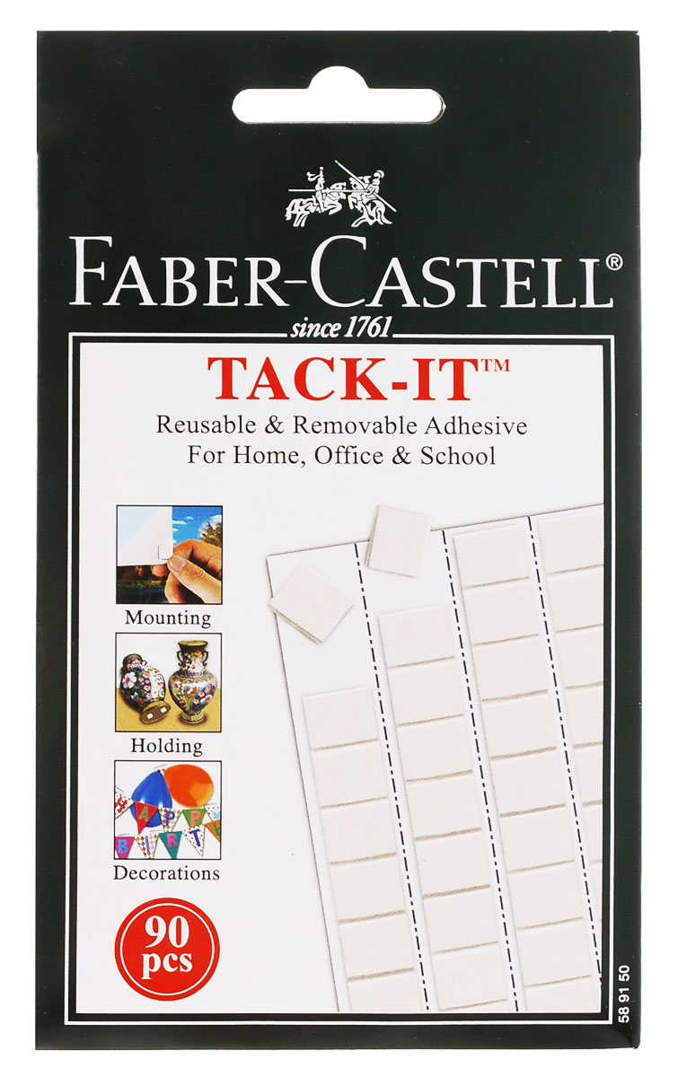 Faber-Castell Снимаемая масса для приклеивания Tack-It 50 г цвет белый