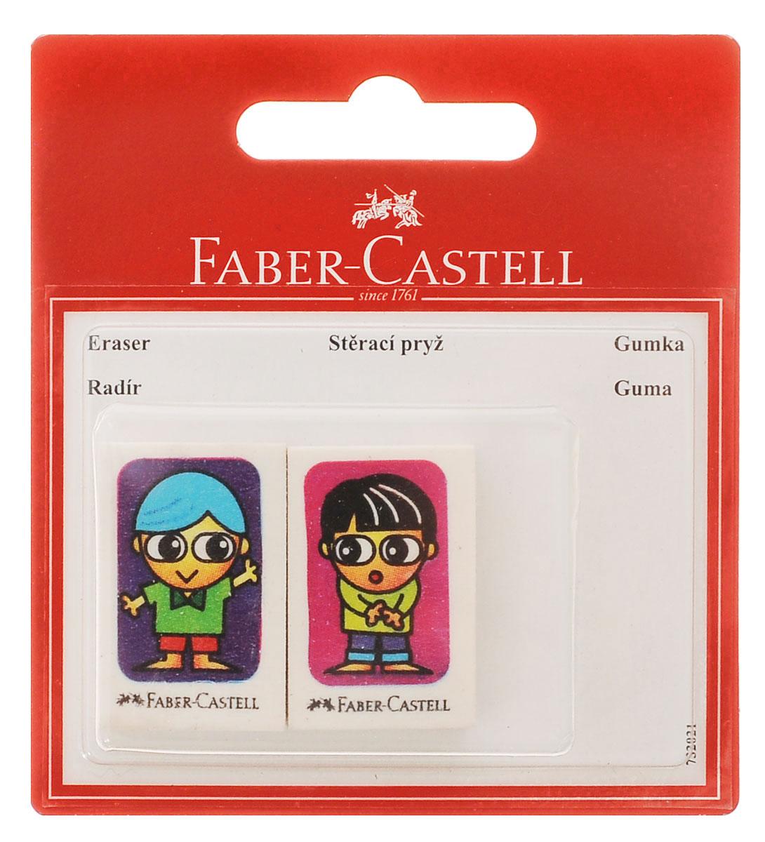 Faber-Castell Ластик Друзья 2 шт263311Ластик Faber-Castell Друзья с изображением двух друзей, по одному на каждом ластике, не содержит ПВХ, пригоден для графитных простых и цветных карандашей. Размеры ластика: 3,5 см х 2,2 см х 0,5 см. В комплекте 2 ластика.УВАЖАЕМЫЕ КЛИЕНТЫ!Обращаем ваше внимание на тот факт, что комплектация может отличаться от представленной на фото и зависит от наличия на складе.