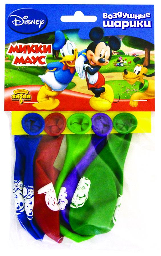 портативный баллон с гелием для шариков купить в москве Веселая затея Набор воздушных шаров Микки Маус 5 шт