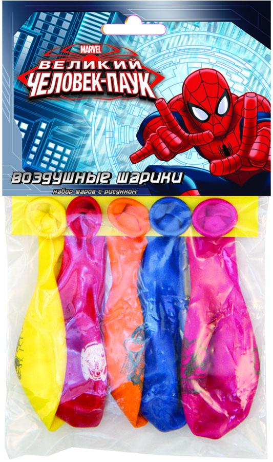 Веселая затея Набор воздушных шаров Великий Человек-паук 5 шт