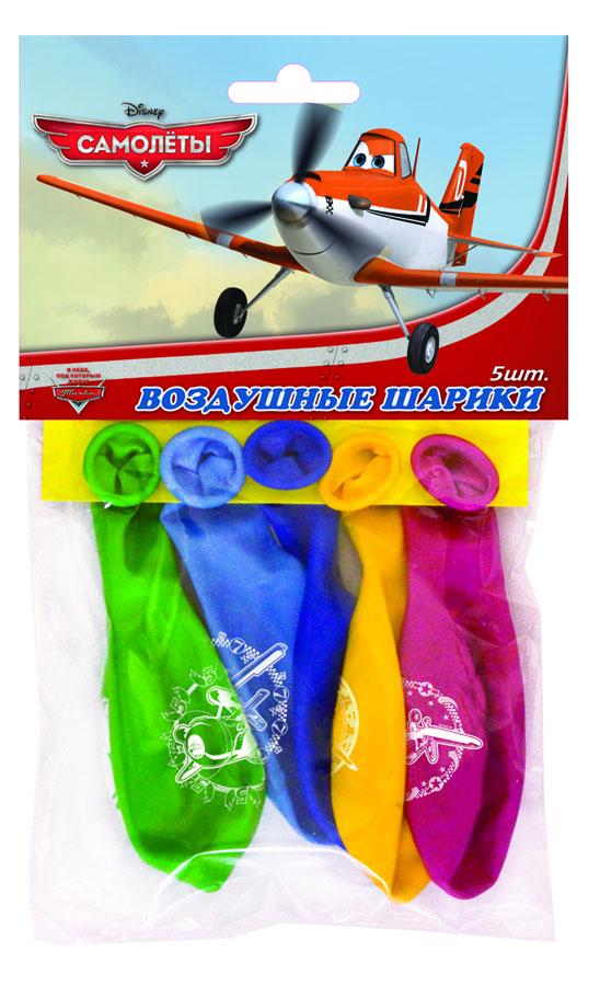 Веселая затея Набор воздушных шаров Disney Самолеты 5 шт disney набор воздушных шаров с днем рождения тачки 25 шт 1442456