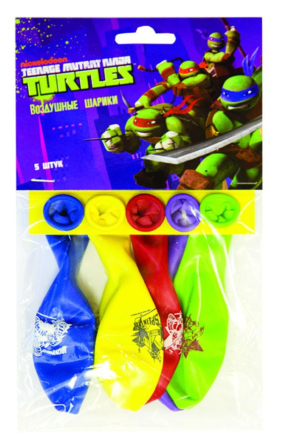 Веселая затея Набор воздушных шаров Черепашки-ниндзя 5 шт