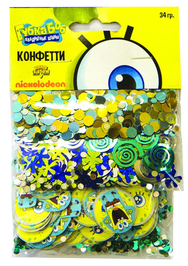 Веселая затея Конфетти Губка Боб 3 вида веселая затея хлопушка губка боб