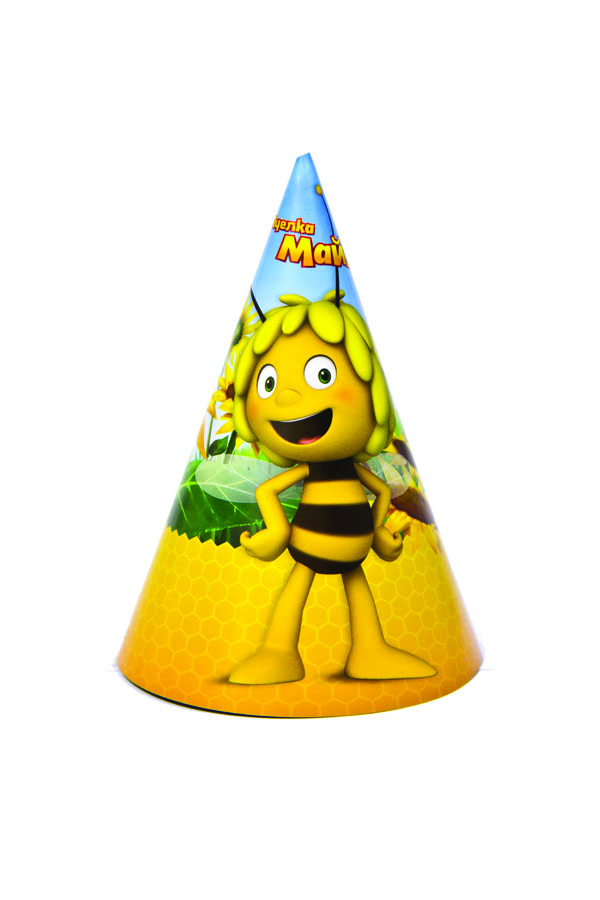 Веселая затея Колпак Пчелка Майя 8 шт
