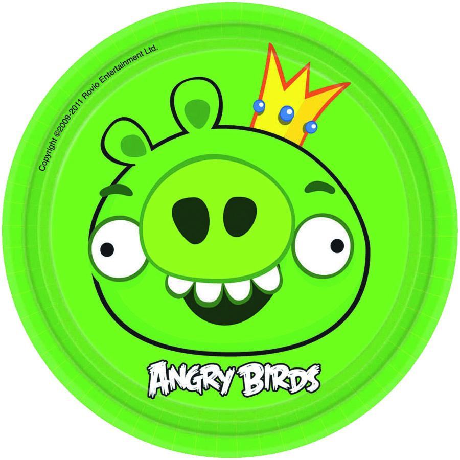 Amscan Тарелка Angry Birds цвет зеленый 8 шт