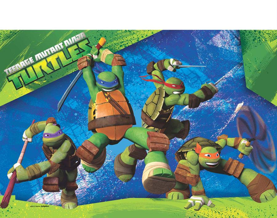 Веселая затея Скатерть Черепашки Ниндзя 140 см х 260 см игровые фигурки turtles машинка черепашки ниндзя 7 см сплинтер на атаке сенсея
