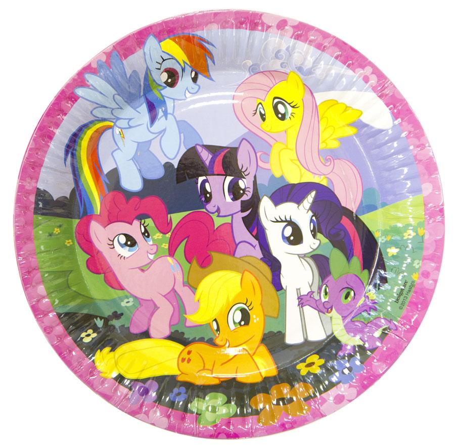 Amscan Тарелка My Little Pony 23 см 8 шт amscan скатерть my little pony 120 см х 180 см