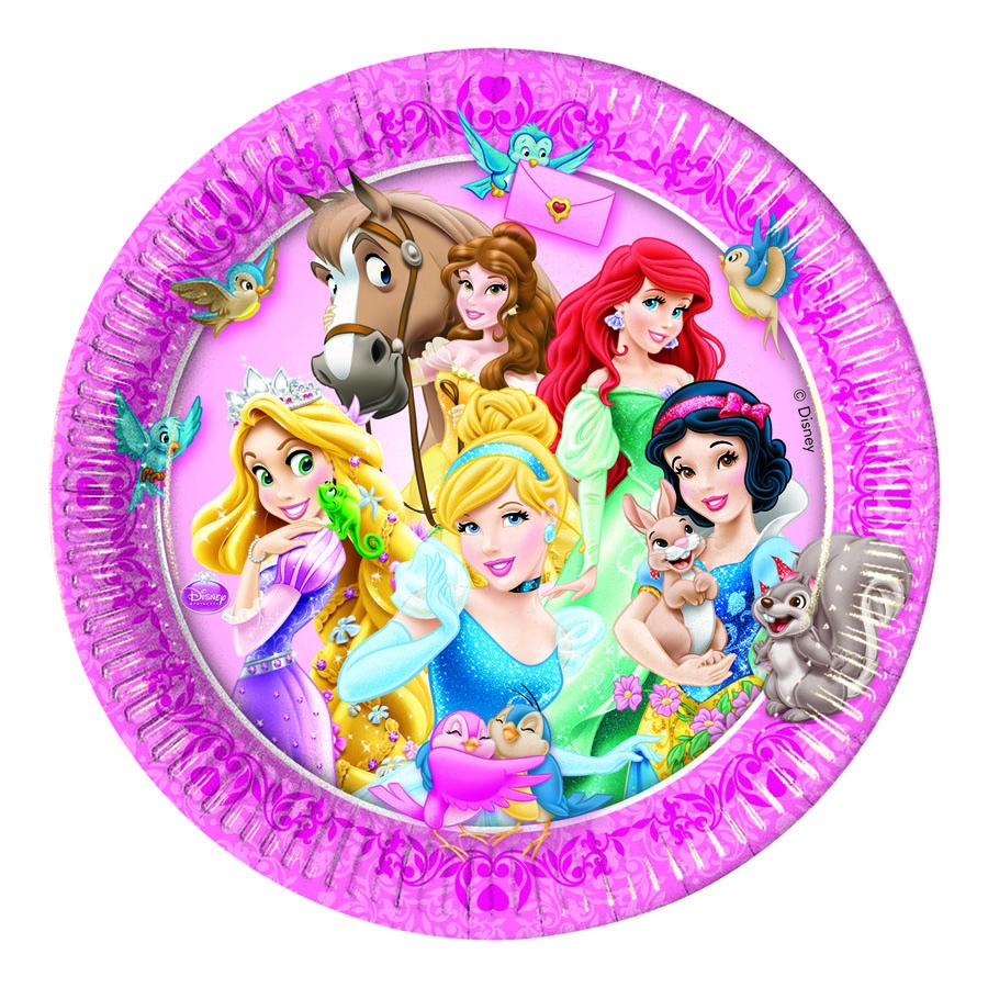 Procos Тарелка Принцессы и животные 8 шт procos тарелка самолеты 20 см 8 шт