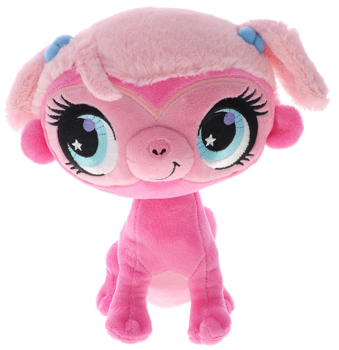 Littlest Pet Shop Мягкая игрушка Зверушка Минка цвет фуксия 20 см лителес пет шоп кошки стоячки