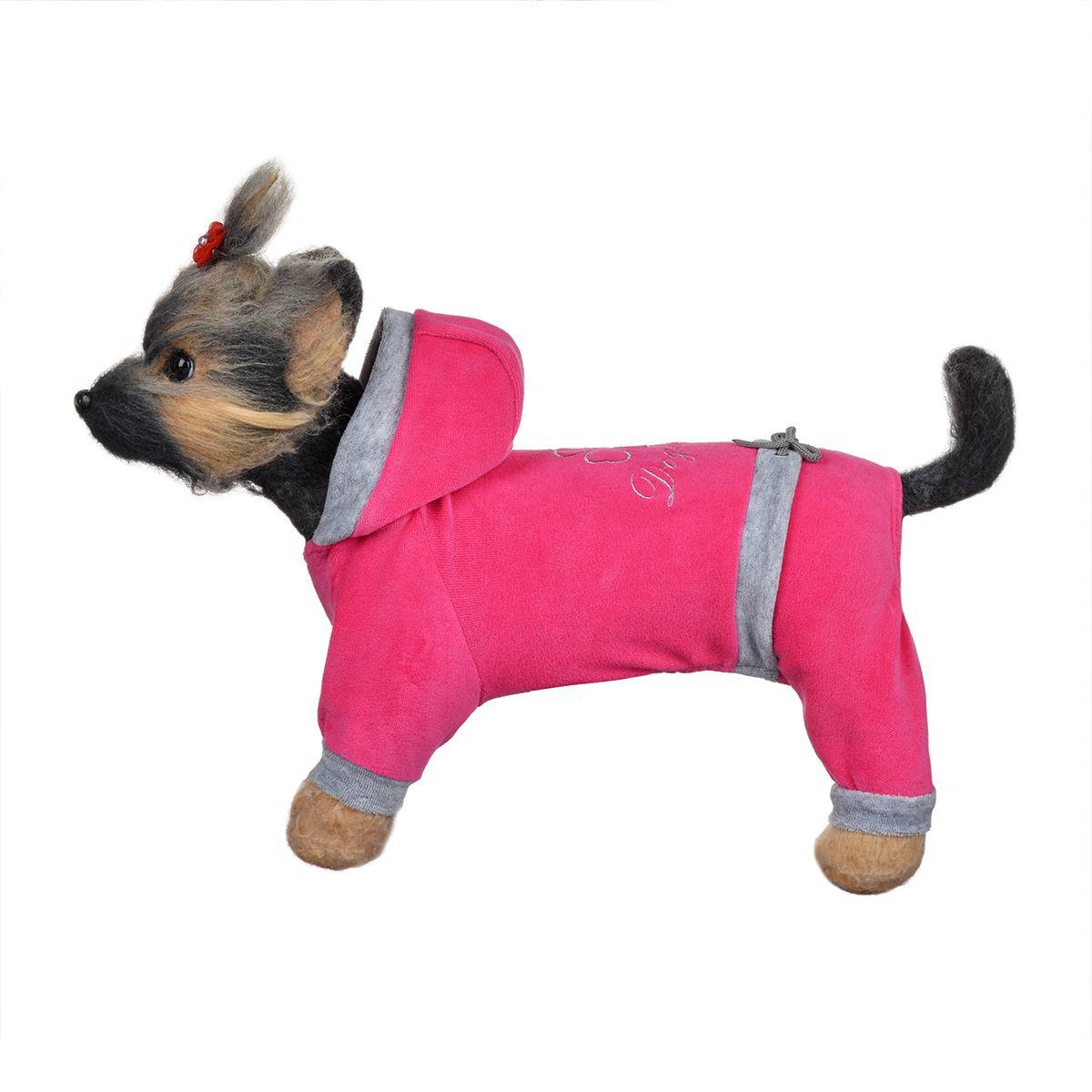 Комбинезон для собак Dogmoda Хоум, унисекс, цвет: розовый, серый. Размер 4 (XL)