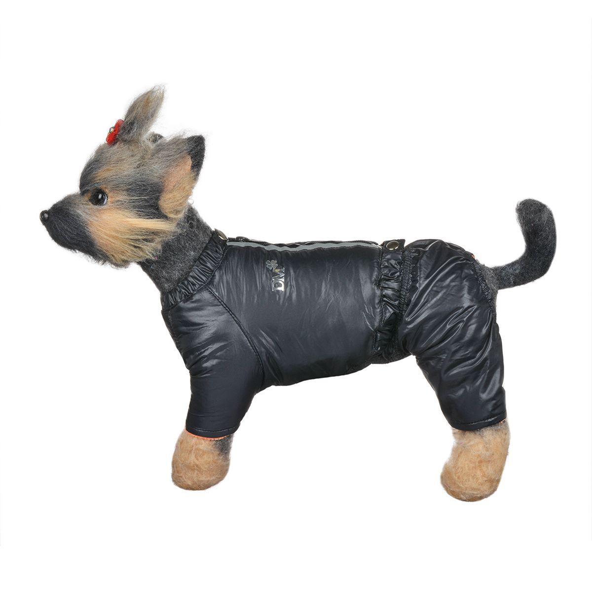 Костюм для собак Dogmoda Дублин, зимний, для мальчика, цвет: черный, оранжевый. Размер 1 (S) комбинезон для собак dogmoda doggs зимний для девочки цвет оранжевый размер xxxl