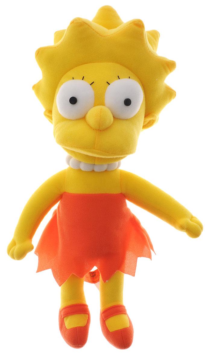 Simpsons Мягкая игрушка Лиза Симпсон цвет желтый морковный 36 см игрушка