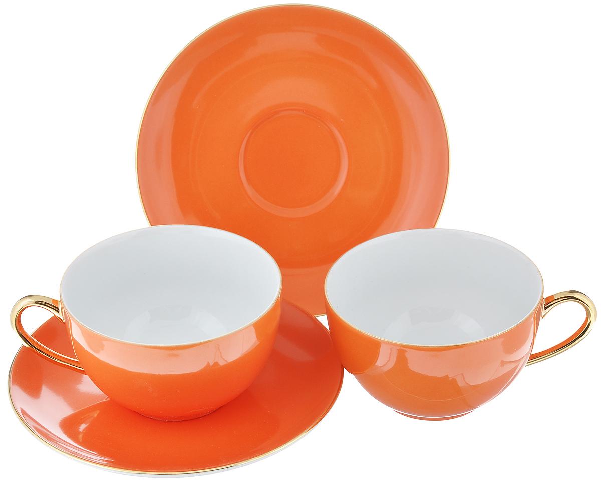 """Чайный набор La Rose Des Sables """"Monalisa"""" состоит из двух чашек и двух  блюдец. Предметы набора изготовлены из высококачественного фарфора.    Изящный дизайн придется по вкусу и ценителям классики, и тем, кто  предпочитает утонченность и изысканность. Он настроит на праздничный лад и  подарит хорошее настроение с самого утра.     Чайный набор - идеальный и необходимый подарок для вашего дома и для ваших  друзей в праздники, юбилеи и торжества! Он также станет отличным  корпоративным подарком и украшением любой кухни.      Не рекомендуется использовать в микроволновой печи и мыть в посудомоечной  машине.      Объем чашки: 210 мл.  Диаметр чашки (по верхнему краю): 9,5 см. Высота чашки: 5 см. Диаметр блюдца: 15 см."""