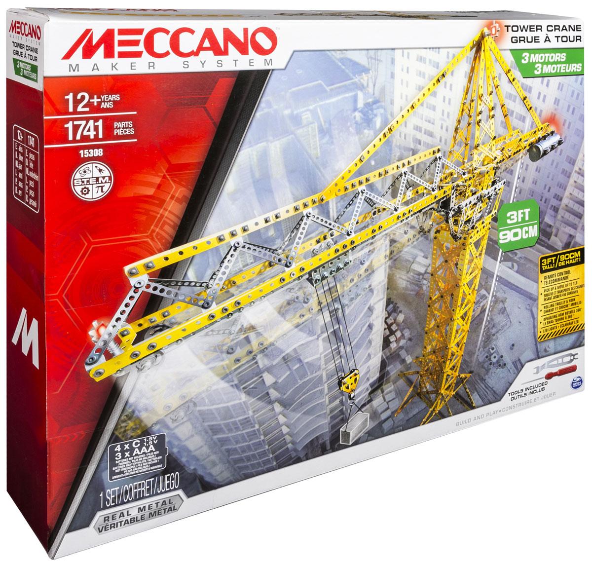 Meccano Конструктор Строительный кран конструкторы meccano игрушка meccano гоночная машина р у 2 модели