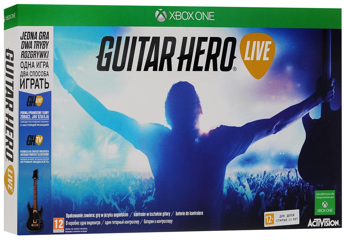 Guitar Hero Live Bundle. Гитара + игра (Xbox One) guitar hero world tour купить pc
