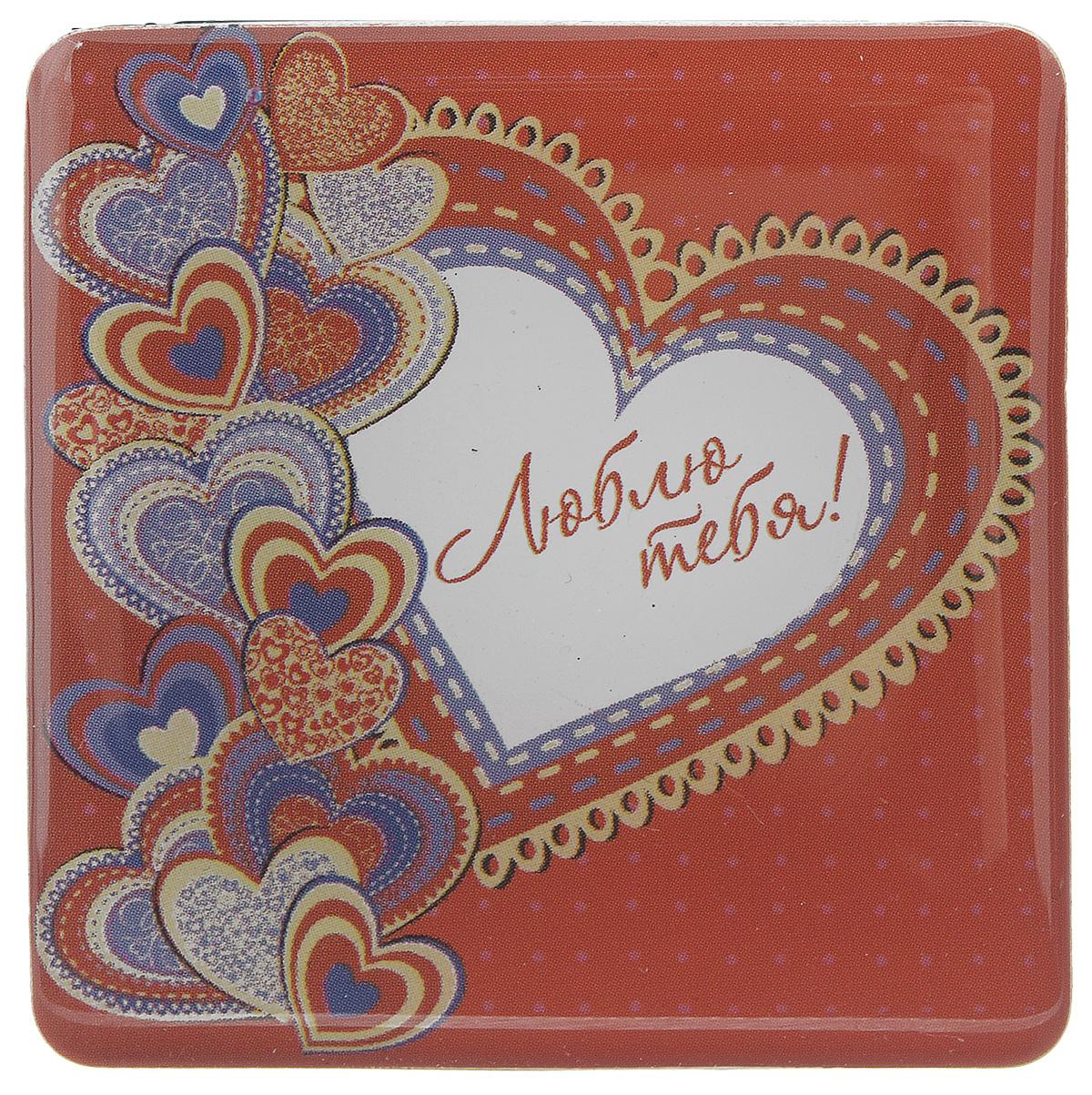 Магнит Феникс-презент Люблю тебя!, 5 x 5 см31530Магнит квадратной формы Феникс-презент Люблю тебя!, выполненный из агломерированного феррита, станет приятным штрихом в повседневной жизни. Оригинальный магнит, декорированный изображением сердец, поможет вам украсить не только холодильник, но и любую другую магнитную поверхность. Материал: агломерированный феррит.