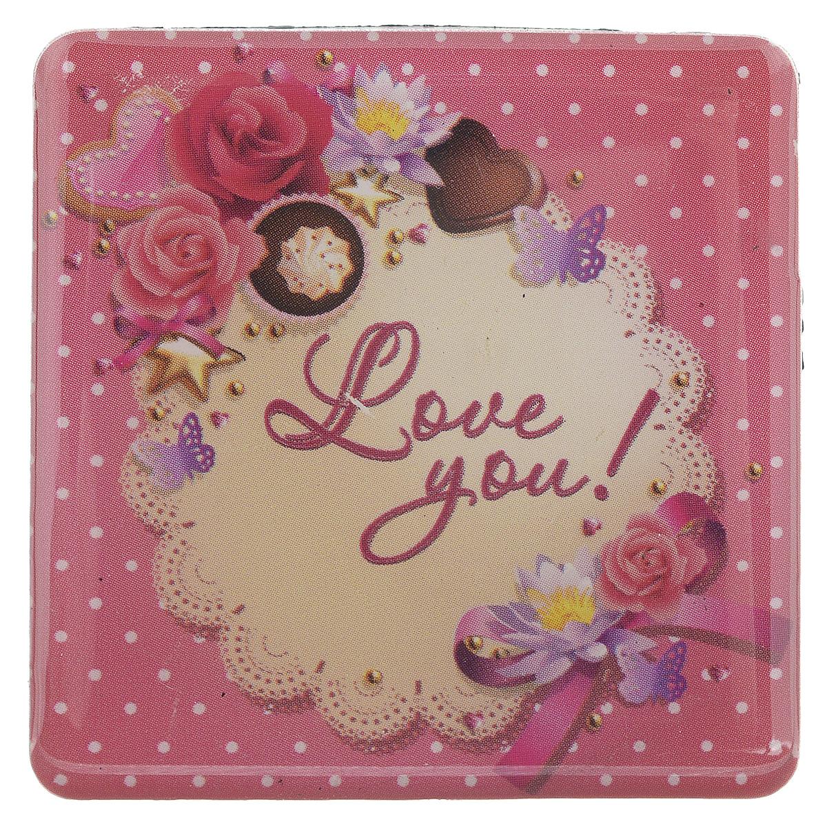 Магнит Феникс-презент Love You!, 5 x 5 см31529Магнит квадратной формы Феникс-презент Love You!, выполненный из агломерированного феррита, станет приятным штрихом в повседневной жизни. Оригинальный магнит, декорированный изображением цветов, поможет вам украсить не только холодильник, но и любую другую магнитную поверхность. Материал: агломерированный феррит.