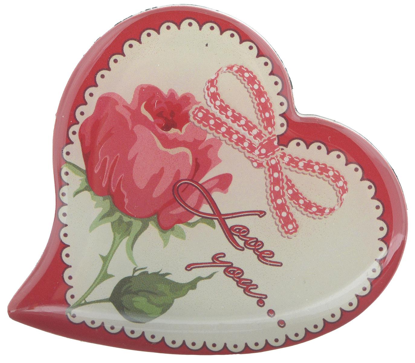 Магнит Феникс-презент Love You..., 5 x 5 см27182Магнит в форме сердца Феникс-презент Love You..., выполненный из агломерированного феррита, станет приятным штрихом в повседневной жизни. Оригинальный магнит, декорированный изображением розы, поможет вам украсить не только холодильник, но и любую другую магнитную поверхность. Материал: агломерированный феррит.