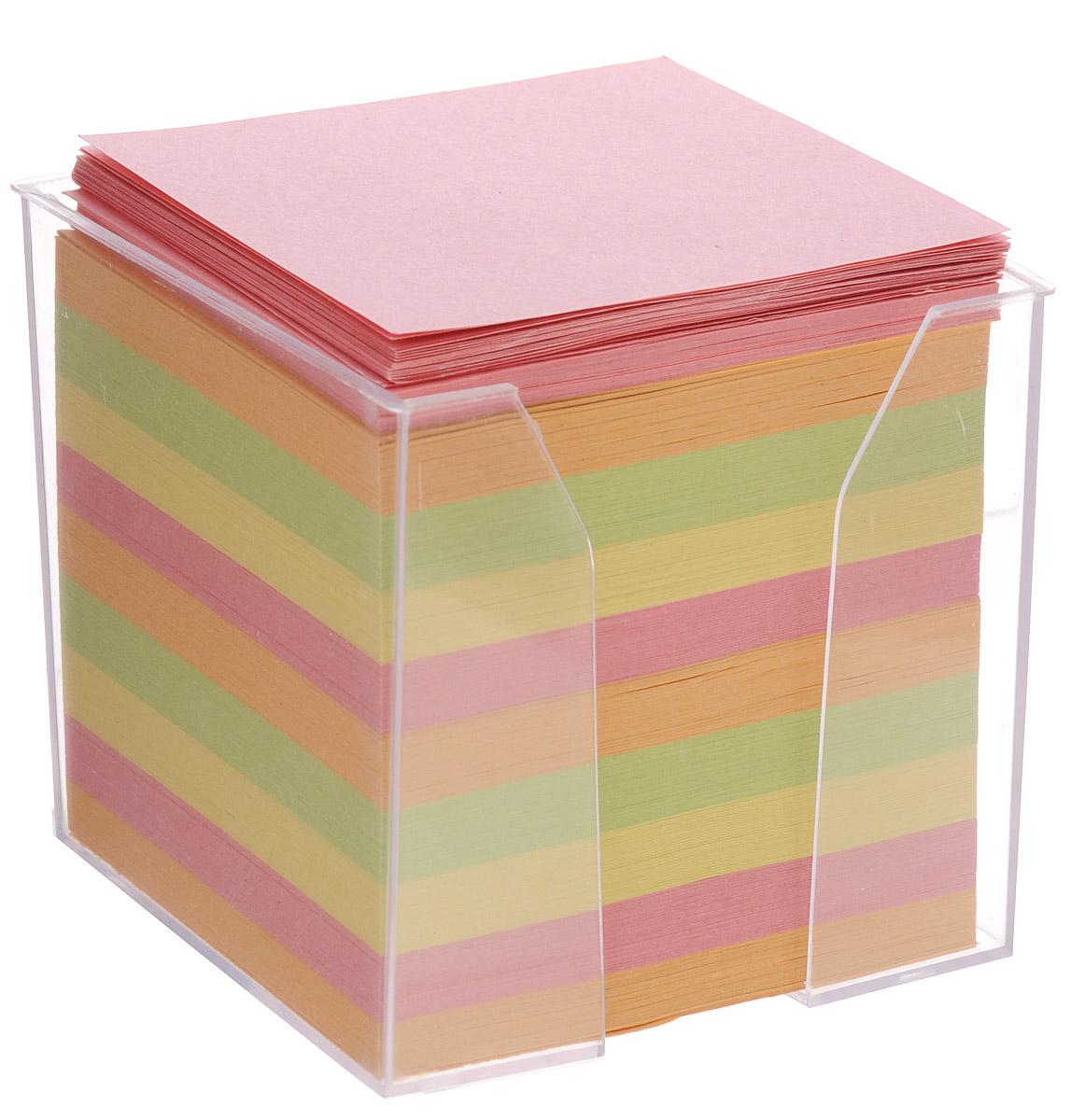 Index Блок бумажный четырехцветный 9 см х 9 см х 9 смI9902/R_розовый,оранжевый,зеленый,желтыйБумага для записей Index - практичное решение для оперативной записи информации в офисе или дома. Блок состоит из листов разноцветной бумаги (желтого, розового, салатового, оранжевого), что помогает лучше ориентироваться во множестве повседневных заметок. А яркий блок-кубик на вашем рабочем столе поднимет настроение вам и вашим коллегам! Бумага хранится в прозрачной пластиковой подставке.