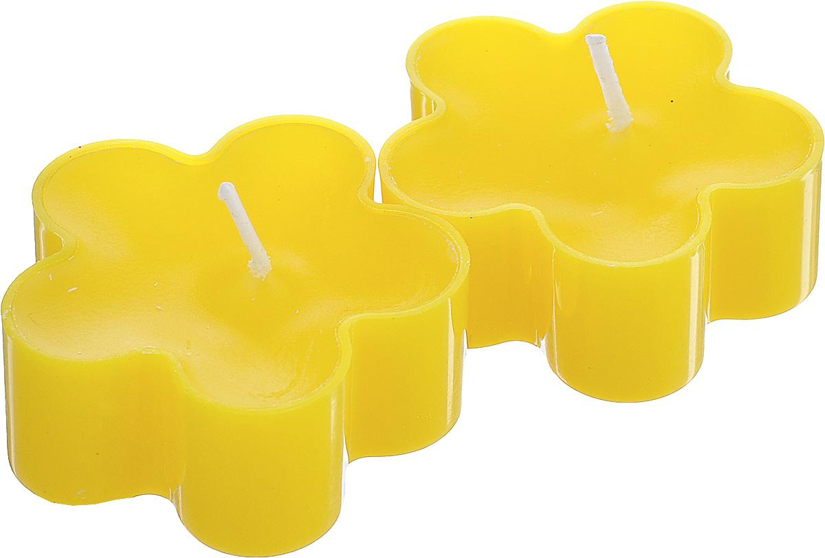 Набор декоративных свечей Lunten Ranta Цветик, цвет: желтый, 4,5 х 4,5 см, 2 шт очки lunten ranta диадема 66151