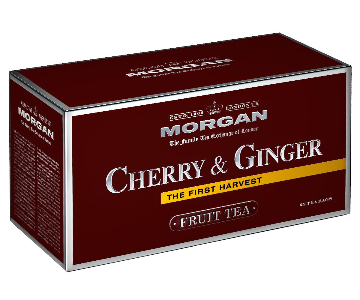 Morgan Cherry & Ginger чай в пакетиках, 25 шт4607141334368Чай Morgan Cherry & Ginger- это изысканное сочетание каркаде, кусочков яблока, имбиря и шиповника. Он прекрасно освежит и зарядит энергией в любое время дня!