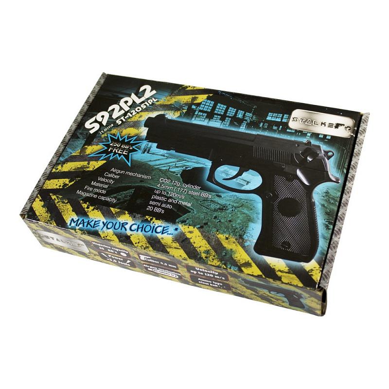 Пистолет пневматический Stalker S92PL (аналог Beretta 92).  ST-12051PL Пользователь должен соответсвовать всем требованиям, установленным...