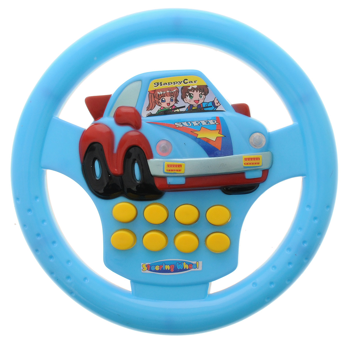 Junfa Toys Развивающая игрушка Руль со световыми и звуковыми эффектами цвет голубой