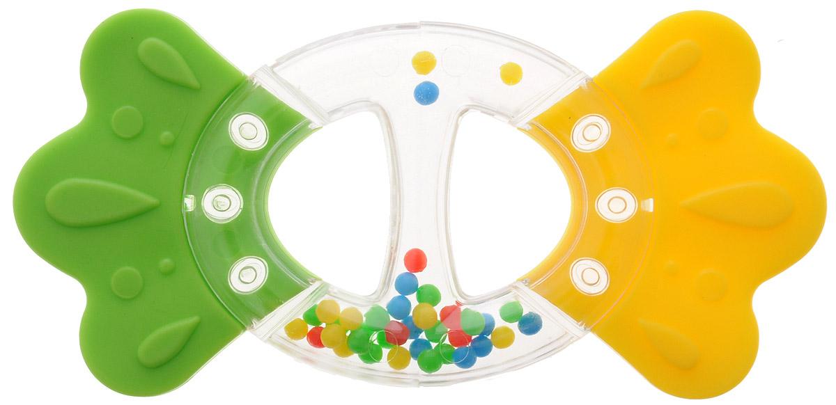 Stellar Прорезыватель Бантик цвет желтый зеленый развивающая игрушка stellar веселый молоточек цвет зеленый желтый голубой