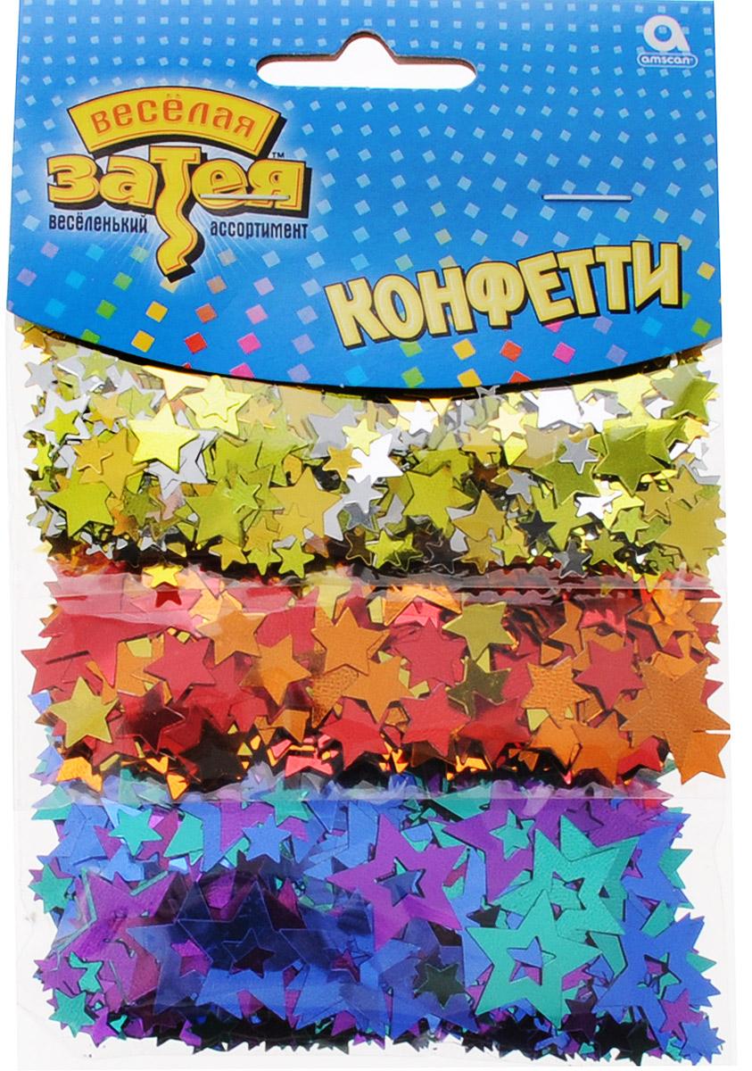 Веселая затея Конфетти Звездный Микс 3 вида 34 г -  Конфетти
