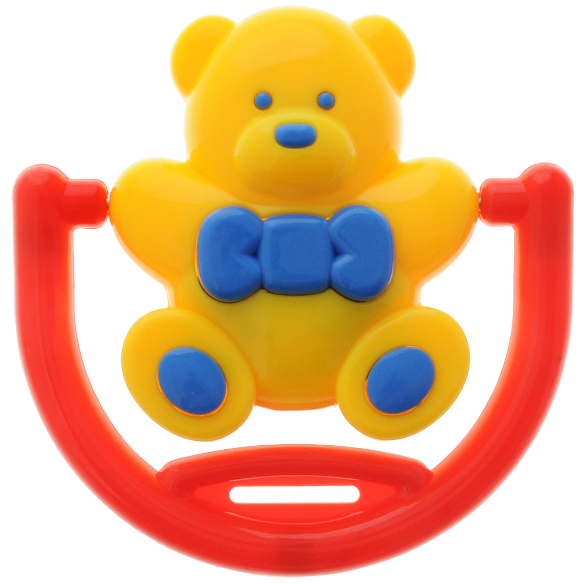 Погремушка Малышарики Мишка на качелях цвет желтый красный синий