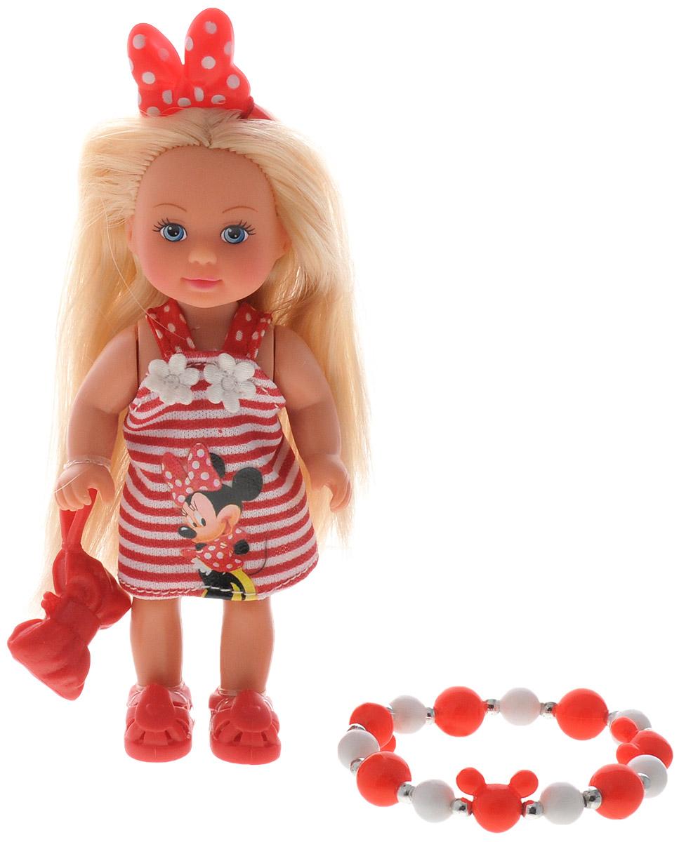 Simba Мини-кукла Еви Minnie Mouse блондинка цвет платья красный белый simba игровой набор с мини куклой evi love fairy carriage
