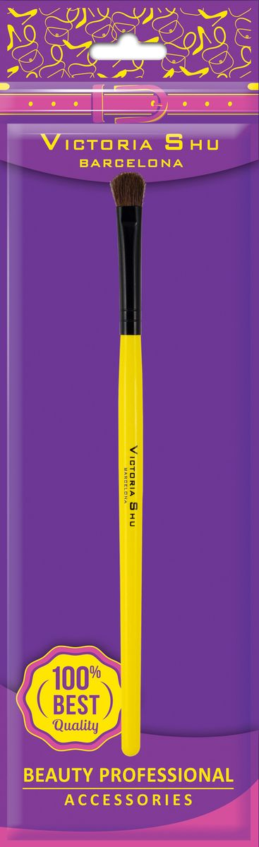 Victoria Shu Кисть для нанесения теней из натурального ворса B202, 11 г тени для век victoria shu top model eyeshasow 209 цвет 209 variant hex name 908b7a