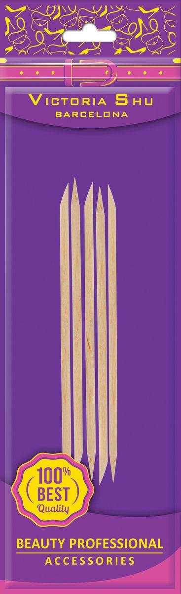 Victoria Shu Набор палочек для маникюра (5шт) D502, 11 г1063V13Деревянные палочки предназначены для обработки ногтей и кутикулы. Палочки заточены специальным способом для ухода за кутикулой и придания формы ногтям. С их помощью легко снимать излишки лака и придавать маникюру аккуратный вид. Палочки легко затачиваются крупно-абразивной пилкой.Как ухаживать за ногтями: советы эксперта. Статья OZON Гид