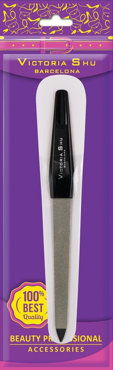 Victoria Shu Пилочка для ногтей из нержавеющей стали с сапфировым напылением F307, 14 г zinger пилка diamond тонкая с алмазным напылением 132 мм