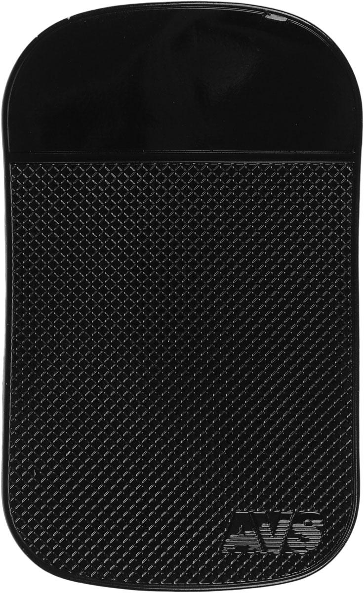 Коврик противоскользящий AVS Nano, цвет: черный, 15 х 9 см43183Противоскользящий коврик AVS Nano применяется для удерживания предметов на приборной панели. Изделие стильное и удобное, просто в установке и использовании. Коврик размещается без использования каких-либо клеящих средств. Устойчив к температурным воздействиям и ультрафиолетовому излучению. Коврик не липкий, не собирает пыль и грязь. В случае загрязнения достаточно просто промыть водой.Фиксирует предметы на поверхностях с углом наклона 60-90°.