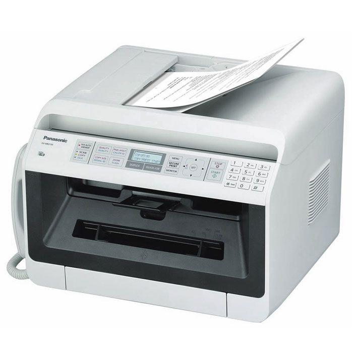 Panasonic KX-MB2130W МФУKX-MB2130 WЛазерное МФУ Panasonic KX-MB2130W совмещает в себе принтер, сканер, копир, факс и PC-факс с сетевым интерфейсом и автоподатчиком на 35 листов. Такие устройства особенно пригодятся тем, кто стремится к экономии офисного и домашнего пространства. МФУ представляет собой сочетание экономичности и высокого качества работы.Компактный автоподатчик облегчает процесс копирования, сканирования и отправки многостраничных факсимильных сообщений. Информативный 2-строчный ЖК-дисплей позволит отследить процессы, выполняемые МФУ, а сетевой интерфейс - разместить устройство в любом месте офиса или квартиры, где есть локальная сеть, и распечатывать документы с любой машины в сети, независимо от того, включены или выключены остальные компьютеры. Также имеется возможность сканирования в локальную папку (в форматах PDF,TIFF,JPEG,BMP), электронную почту, на FTP-сервер и папку SMB (в форматах PDF,JPEG или TIFF).Струйный или лазерный принтер: какой лучше? Статья OZON Гид