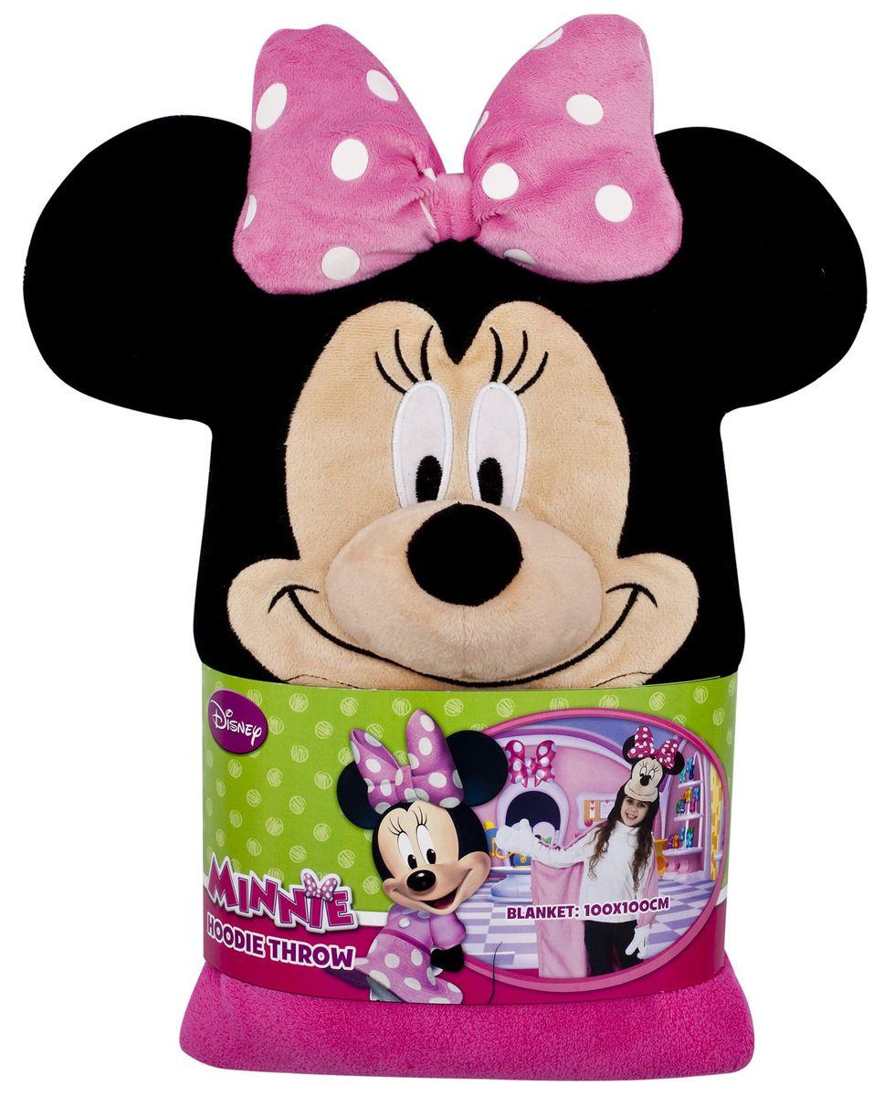 Disney Плед детский с капюшоном Minnie Mouse 100 см х 100 см15485Детский плед с капюшоном Disney Minnie Mouse – удивительная и многофункциональная вещь, от приобретения которой выиграют все. Родители, потому что получают для своих любимых чад тёплое и мягкое покрывальце. Дети, потому что мягкий плед может использоваться как накидка или пончо, а это отличная возможность преобразиться из мальчика или девочки в любимого героя. Данная текстильная продукция занимает высокие позиции на потребительском рынке благодаря своим оригинальным дизайнам и безопасным материалам.